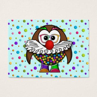 clown owl business card