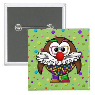 clown owl button
