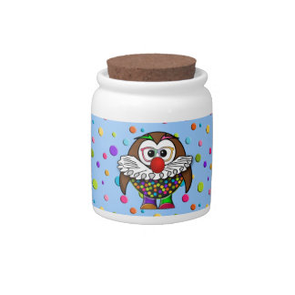 clown owl candy jars