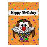 clown owl card