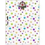 clown owl dry erase board