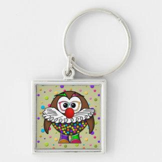 clown owl keychain