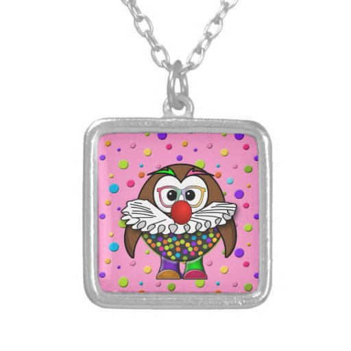 clown owl pendants