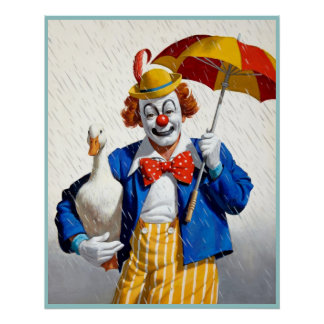 Clown painting  1 poster