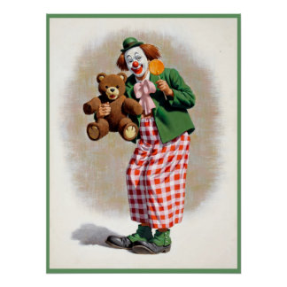Clown painting  4 poster