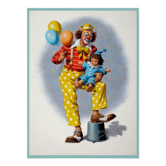 Clown painting  6 poster