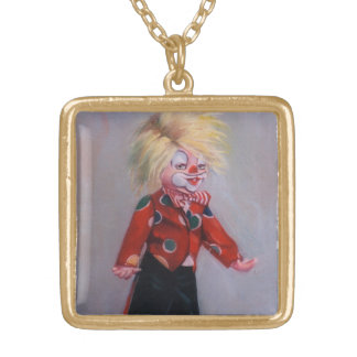 Clown/Pallaso/Clown Gold Plated Necklace