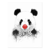 Clown panda postcard