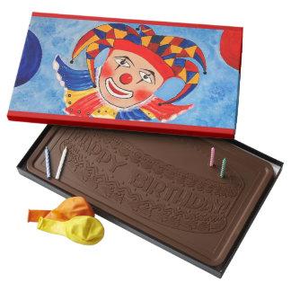 Clown, Party  Chocolate Box  45 Piece Assortment 2 Pound Milk Chocolate Bar Box
