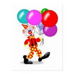 Clown Party Invitation Postcard