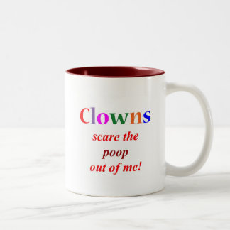 Clown Phobia Two-Tone Coffee Mug