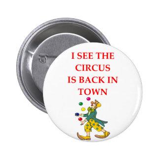 clown pinback button
