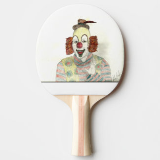 Clown Ping Pong Paddle, Red Rubber Back Ping-Pong Paddle
