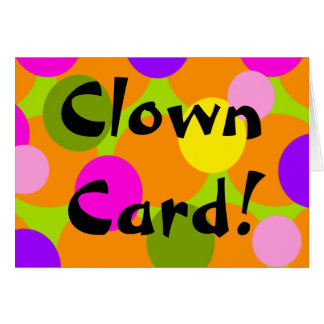 Clown Polka-dot Gumball pattern Card