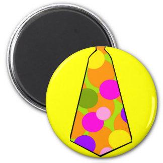 Clown Polkadot Gumball Tie 2 Inch Round Magnet