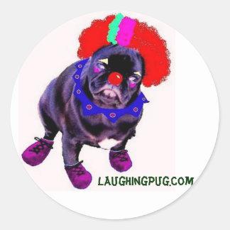 Clown Pug Sticker