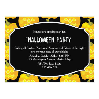 Clown Pumpkin Halloween Card