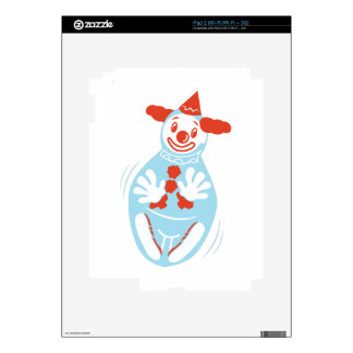 Clown Punching Bag Decals For iPad 2