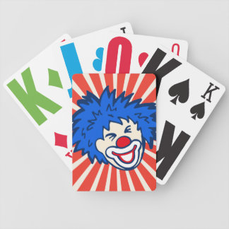 Clown red blue fun party playing cards