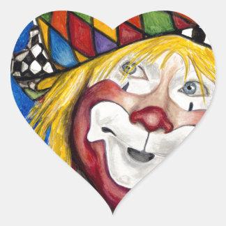 Clown Ron Maslanka AKA Sam The Clow Heart Sticker