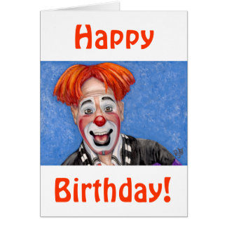 Clown Ryan Combs Greeting Card