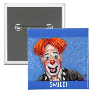 Clown Ryan Combs Pinback Button