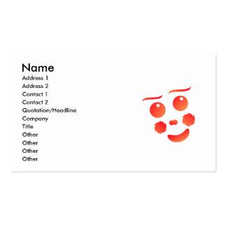 Clown shape face fun design business card template