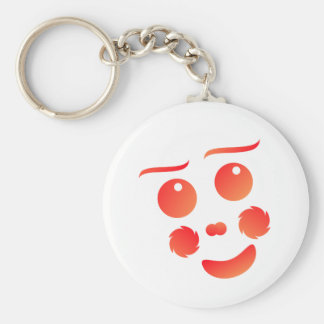 Clown shape face fun design keychains