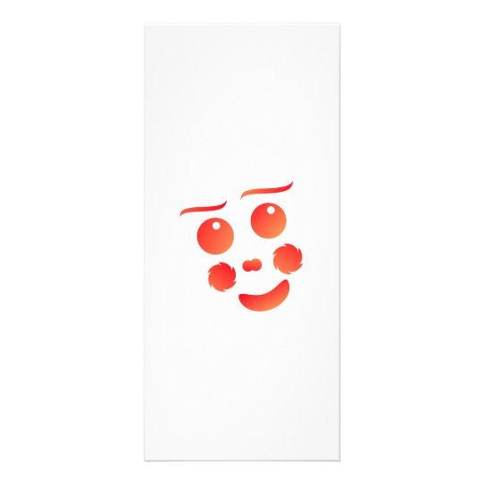 Clown shape face fun design rack card