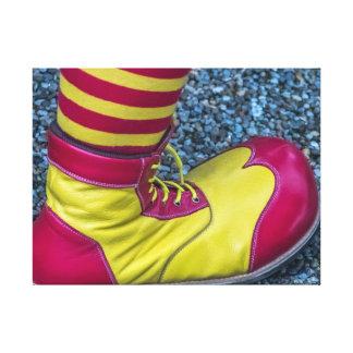 Clown shoe canvas print