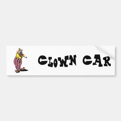 Clown silly car bumper sticker