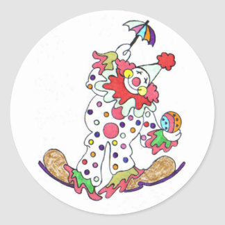 Clown Sitckers Classic Round Sticker
