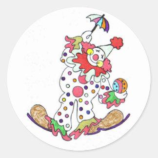 Clown Sitckers Classic Round Sticker