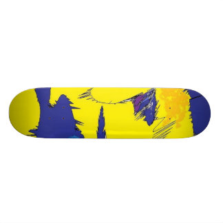 clown skateboard deck