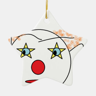 Clown Sketch Christmas Ornaments