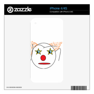 Clown Sketch Decals For iPhone 4