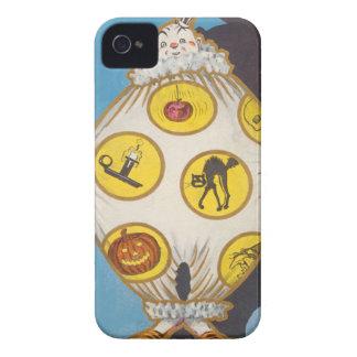 Clown Skull Black Cat Witch Jack O Lantern iPhone 4 Case-Mate Case