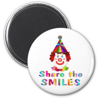 Clown Smiles 2 Inch Round Magnet