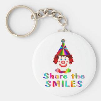 Clown Smiles Basic Round Button Keychain