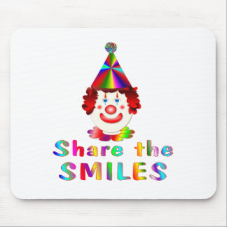 Clown Smiles Mouse Pad