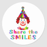 Clown Smiles Stickers