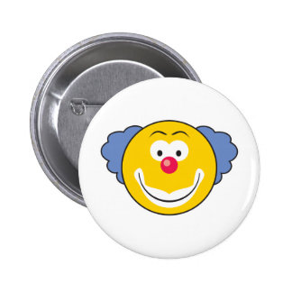 Clown Smiley Face 2 Inch Round Button