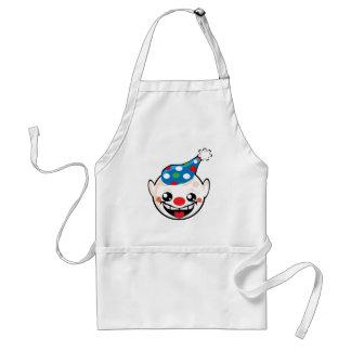 clown smiley face adult apron