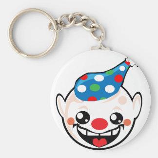 clown smiley face keychain