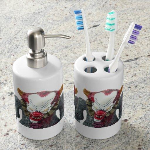Clown soap dispenser set zazzle Soap lotion dispenser set