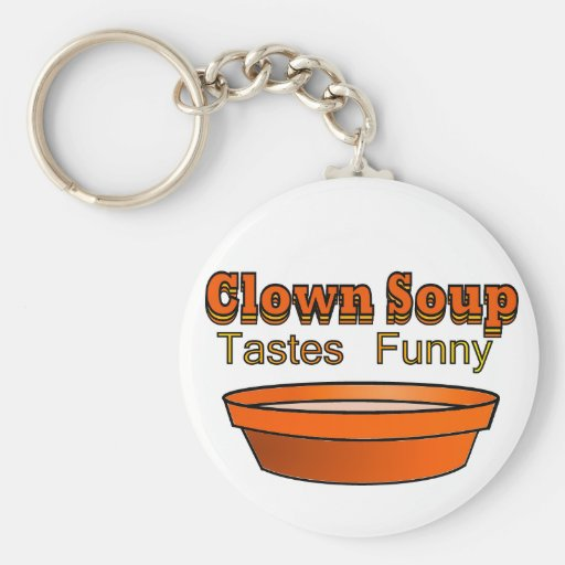 Clown Soup Basic Round Button Keychain