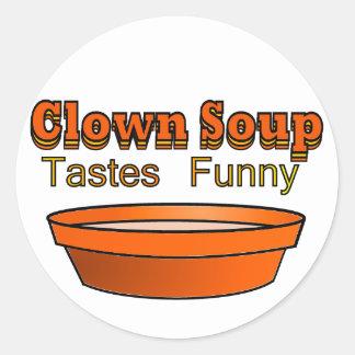Clown Soup Classic Round Sticker