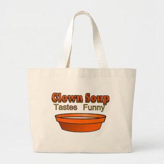 Clown Soup Large Tote Bag