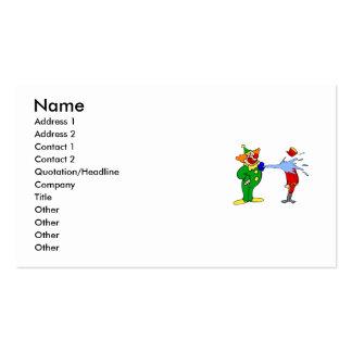 Clown Squirt water Business Card Template