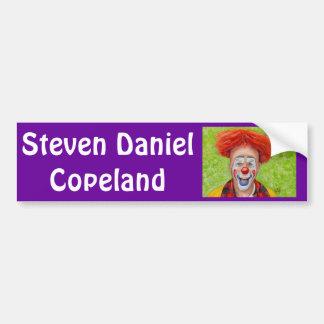 Clown Steven Daniel Copeland Car Bumper Sticker